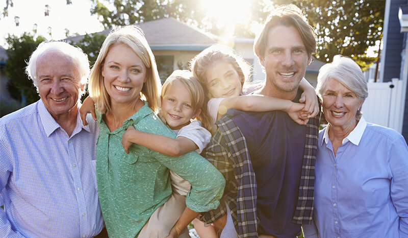 Inter-generational family group shot, Estate planning